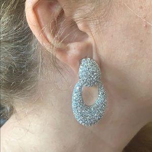 St. John Clip-On Rhinestone Earrings